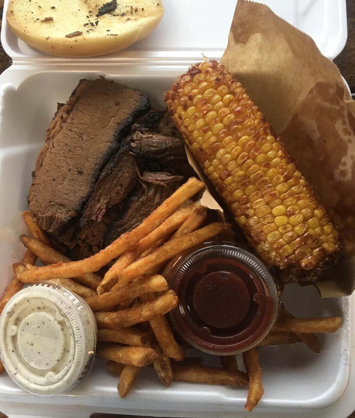 Brisket Sandwich at Louie's Hot Chicken and Barbecue